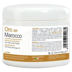 Pasta di zucchero depilazione araba, sugaring - Miele e Argan-Scrub Peli -500gr
