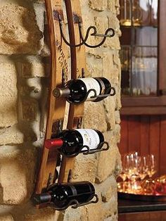 Bring the spirit of French wine country into your home while displaying your favorite bottles of wine with the Reclaimed Wine Rack.