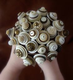Stacked Vintage Buttons
