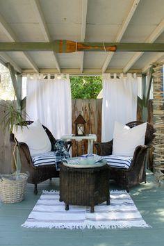 Coastal Patio - Nautical - outdoor spaces - The Wicker House