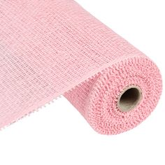 "Deco Paper Mesh Size: 10"" width; 10 yards length Color: Blush Pink Material: Paper"