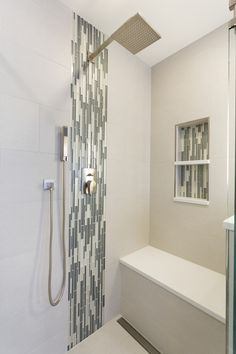 The Ultimate Guide shower seat uae on this favorite site Ensuite Bathrooms, Bathroom Renovations, Master Bathroom, Home Depot, Teak, Stone Shower, Shower Seat, Mosaic Wall Tiles, Rustic Shower