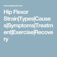 Hip Flexor Strain|Types|Causes|Symptoms|Treatment|Exercise|Recovery
