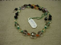 """AAA+ Natural Multi Stone Multi Shape Faceted Gemstone 17"""" Necklace , 185.5cts. #Kantaincorporation #Faceted"""