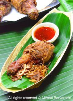 Thai street side fried chicken, Gai Tod Hat Yai (1)