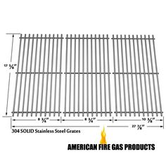 Solid Stainless Grates For Brinkmann and Grill King Gas Models