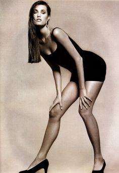 UK Vogue May 1988  Lithe Spirit Photographer: Andrew MacPherson Model: Yasmin LeBon Hair: Rene Gelston Makeup: Mary Greenwell