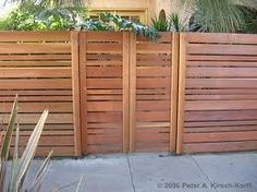 Mid century horizontal fence with gate