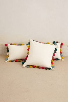 Anthropologie - Firenze Velvet Tassel Pillow The latest acquisition for our growing pillow collection. Contemporary Pillows, Bohemian Bedding, Pillow Fight, Pillow Talk, Designer Pillow, Tassels, Diy Tassel, Home Accessories, Pillow Covers