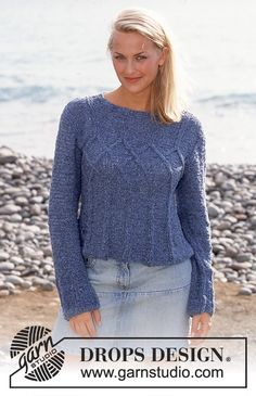 DROPS Pullover in Passion Free pattern by DROPS Design.