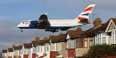 British Airways Airbus landing at Heathrow British Airways Planes, Climate Change Report, Airbus A380, Heathrow Airport, Mode Of Transport, Image Caption, Greenhouse Gases, To Infinity And Beyond, The Expanse
