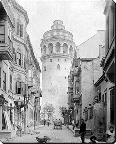 Galata Tower 1900's. Beyoğlu. Istanbul. Turkey