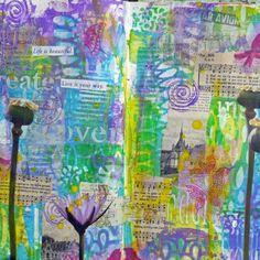 Mixed Media Art Journaling by Frieda Oxenham with StencilGirl stencils