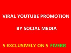 Check it out! alicebittencour will viral youtube promotion by social media for $5 on #Fiverr