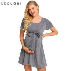 Maternity Clothing Pregnancy & Maternity Lonsant Maternity Dress Women Short Sleeve Pregnant Dress Striped Patchwork Floral Print Dress Beach Holiday Maternity Sundress