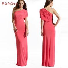 Smoke richcoco sexy one shoulder slanting collar floor-length long dress party evening elegant fashion women clothes 2014 US $21.22