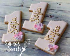 """Emma's Sweets (Mary) (@_emmas__sweets): """"Birthday cookies  . . #emmassweets #cookies #cookieart #edibleart #unicorncookie"""