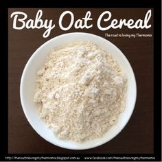 Oats are a great first food for babies for those who are going down the purée and cereal route like me. It& as simple as blitzing oats on speed 9 for 20 seconds. Scrape down. You want this to be a fine powder consistency. Baby Oatmeal Cereal, Oat Cereal, Baby Puree Recipes, Baby Food Recipes, Feeding Baby Solids, Weaning Foods, Bellini Recipe, Baby First Foods, Toddler Meals