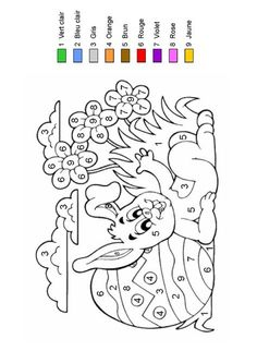 Home Decorating Style 2020 for Coloriage Magique Paques, you can see Coloriage Magique Paques and more pictures for Home Interior Designing 2020 at Coloriage Kids. Easter Coloring Pages, Coloring Book Pages, Coloring For Kids, Easter Arts And Crafts, French Colors, Color By Numbers, Easter Colors, Easter Activities