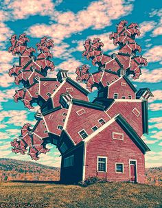LARRY CARLSON, Red School House, digital photography, 2010
