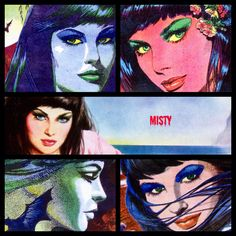 Montage of misty girls comic cover girls #1970s - misty was a comic specializing in spooky supernatural stories