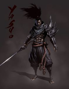 Yasuo – League of Legends fan art by Seung Eun Kim League Of Legends Yasuo, League Of Legends Characters, Lol League Of Legends, Fantasy Character Design, Character Art, Character Ideas, Ninja Assassin, Samurai Artwork, Ninja Art