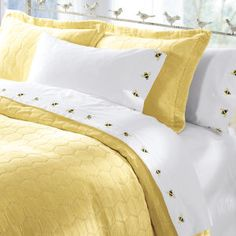 Bee Embroidered Duvet Cover Amp Sham Honey Just Bee In