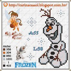 Olaf cross stitch pattern