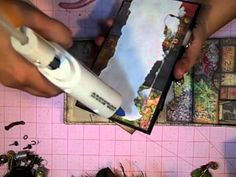 Tim Holtz Lost Paper Bag Mini Album Series Episode 8 by Chan Chan Orta (Feb Paper Bag Books, Paper Bag Album, Paper Bags, Mini Albums, Mini Photo Albums, Large Scrapbook, Mini Scrapbook Albums, Mini Album Tutorial, Album Book