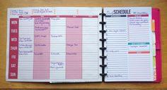 sehr coole Idee - links Wochenübersicht, rechts tägliche Seiten