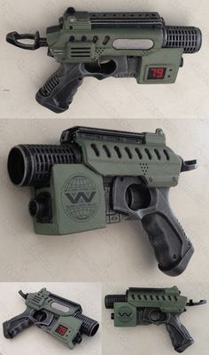 Aliens Colonial Marines Nerf Nite Finder Blaster Pistol Mod baby Because I love Aliens and Alien and I can never do enough Aliens inspired mods. Arma Steampunk, Steampunk Gun, Nerf Mod, Larp, Aliens Colonial Marines, Cool Nerf Guns, Armas Ninja, Future Weapons, Cosplay Armor