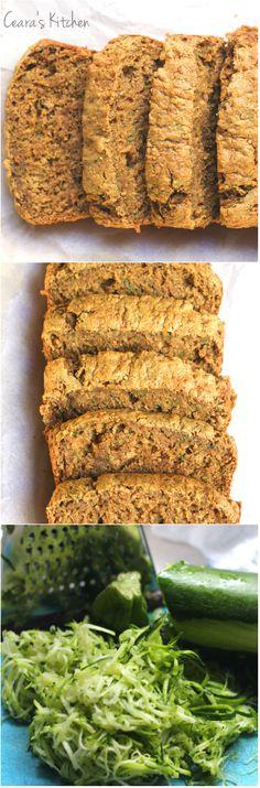 Oil-Free Healthy Zucchini Bread