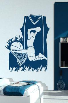 Wall Decals  Basketball Composition -WALLTAT.com Art Without Boundaries