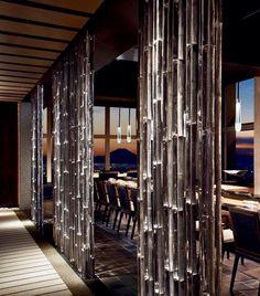"The Ritz-Carlton on Twitter: ""These metallic aluminum bamboo pillars are molded using real bamboo, elegantly decorating the hallways of #Hinokizaka restaurant. #tokyo https://t.co/ejlgM4Y1kA"""