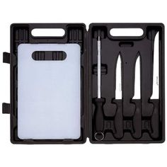 5pc Angler Fishing Cutlery Set Knives Feature High-quality Stainless Steel Blades with Leymar Handles/gift Boxed >>> To view further for this item, visit the image link.
