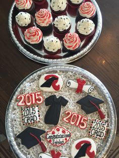 Graduation cookies and cupcakes