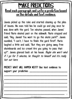 Making Predictions — Instant Worksheets | Education