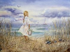 'Girl At The Ocean' - http://irina-sztukowski.artistwebsites.com/featured/girl-at-the-ocean-irina-sztukowski.html