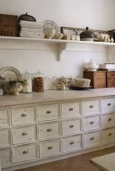 accessories above kitchen cabinets | Creating a Country Farm Kitchen