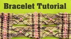 Yarn Cuff Bracelet with Beads   Tutorial by Macrame School