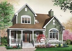 This house is pretty realistic regarding what I might be able to one day have. - House Plans, Home Plan Designs, Floor Plans and Blueprints Br House, Cottage House, Country House Plans, Farmhouse Plans, Farmhouse Style, House Painting, House Colors, Roof Colors, My Dream Home
