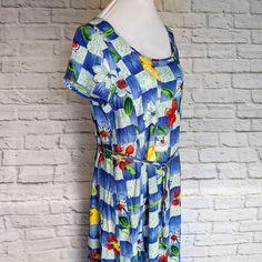 860275f863f Jams World MuuMuu Maxi Dress Hawaii Aloha Womens Size Medium Cap sleeve  Rayon