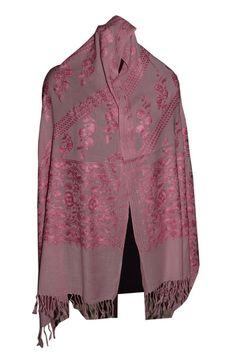 Embroidered, Jamavar, Paisley, Wool Shawl. Crewel Embroidery on Jamawar 651 #JaisalmerHandloom #ShawlWrap