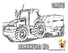 CASE Maxxum 110 Tractor Print out  at YesColoring. http://www.yescoloring.com/tractor-coloring.html