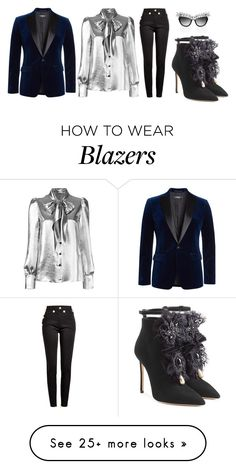 """#125705005975092735325"" by justsafeandsound on Polyvore featuring Yves Saint Laurent, Balmain, Dsquared2 and Anna-Karin Karlsson"