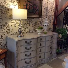 A beautiful vintage chest painted with a custom mix of Chalk Paint® by Annie Sloan