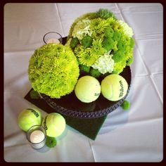 Why isn't anyone throwing me tennis themed shenanigans with really elaborate center pieces