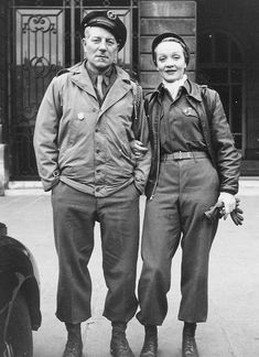 Marlene and Jean Gabin // in 1941, the French actor and military hero Jean Gabin began a relationship. Their relationship ended in the mid-1940s.