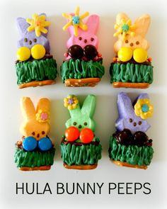 22 Ways to Eat Easter Peeps!   My faves: Hula Peeps, Peeking Peeps and Racing Peeps