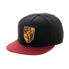 Harry Potter Gryffindor Snapback Baseball Cap ($16) ❤ liked on Polyvore featuring accessories, hats, ball cap, baseball cap hats, acrylic hat, snapback hats and baseball caps
